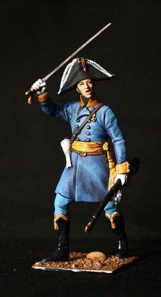Elite Napoleonic: Hungarian Officer Tin toy soldier 54 mm., sculpture. #Spbdolls