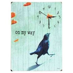 On My Way Wall Clock... can see a variety of designs done this way
