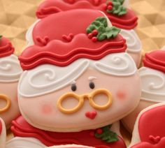 Mrs. Claus Cookies Recipe by Sugarbelle, use a skull cutter for head
