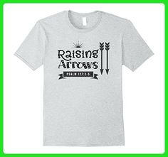 Mens Raising Arrows Psalm 127: 3-5 Shirt Family Christian Match b XL Heather Grey - Relatives and family shirts (*Amazon Partner-Link)