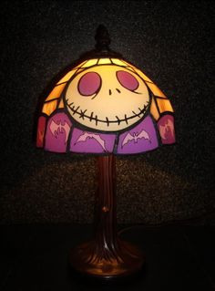 Jack Skellington Tiffany lamp