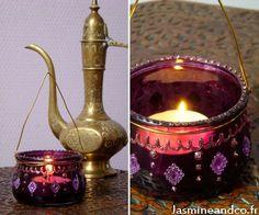 faire une lanterne orientale Bollywood / customisation pot de yaourt / moroccan diy lantern