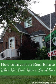If you don't have much time, there are still ways you can invest in real estate. Here are 3 different ways to maximize your time with real estate investing.