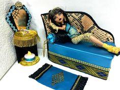 pinkrosemh Couch Sofa Bed Möbel Furniture für Barbie Monster High Cleo de Nile in Spielzeug, Puppen & Zubehör, Mode-, Spielpuppen & Zubehör | eBay