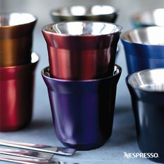 Add to your coffee collection with our stainless steel Nespresso Pixie Espresso Cups!