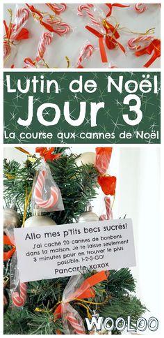 Voici 3 jeux à faire avec les cannes de bonbons. Un drôle de tour de notre Lutin Pancarte #elf #elfontheshelf  #christmas #noel