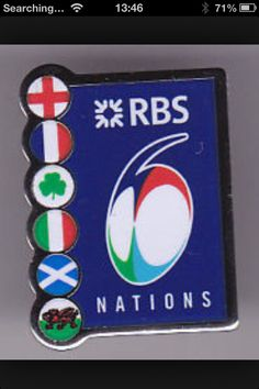 Rugby rbs six nations badge.