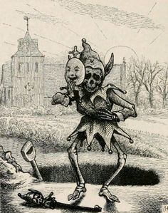 """Emblem VIII ~ Woe unto you that laugh now! For ye shall mourn and weep ~ Illustration by Charles Bennet from Francis Quarles' """"Emblems"""", 1861 Arte Horror, Horror Art, Memento Mori, Satanic Art, Esoteric Art, Skeleton Art, Arte Obscura, Macabre Art, Occult Art"""