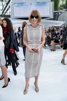 Anna Wintour | 15 Things You Need to Know About the Chanel Airlines Show | POPSUGAR Fashion Photo 12