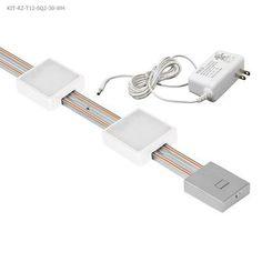 """Jesco Lighting Radianz 12"""" LED Under Cabinet Strip Light Finish: White Track Lighting Kits, Lithonia Lighting, Vanity Lighting, Strip Lighting, Led Under Cabinet Lighting, Puck Lights, Kit Homes, Bulb, Light Led"""