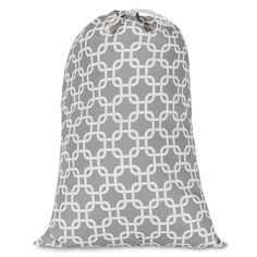 Printed Laundry Bag-Gray Links