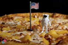 The moon first hit his eyes, like a big pizza pie in 1969. Guess who?