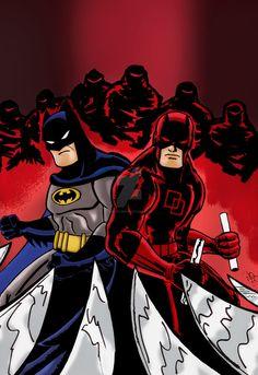 Batman daredevil adventures color by Batman Vs, Batman And Catwoman, Marvel Vs, Marvel Heroes, Marvel Comics, Comic Pics, Comic Pictures, Marvel And Dc Crossover, Batman Drawing