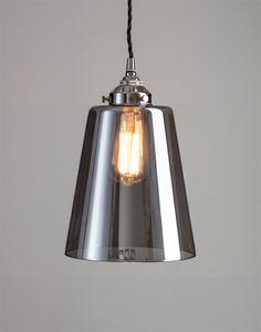 Smoked blown glass pendant Hallway Lighting, Glass Pendants, Ceiling Lights, Smoke, Blown Glass, Metal, Extensions, Home Decor, Bathroom