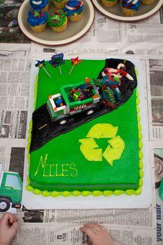 Garbage Truck Birthday Cake!
