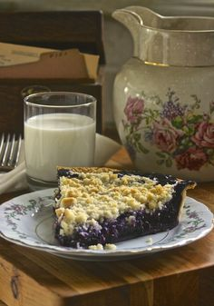 """Wild Blueberry Pie with Crumb Top from """"Wildflower's Cottage Kitchen"""""""