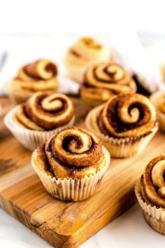 These Cinnamon Roll Cupcakes are perfect for breakfast, brunch, or even for birthday breakfasts! The recipe makes 24 and costs just $6.82 cents to make! Donut Recipes, Sweets Recipes, Cupcake Recipes, Cookie Recipes, Cupcake Cakes, Pudding Recipes, Pie Recipes, Brunch Recipes, Cinnamon Roll Cupcakes