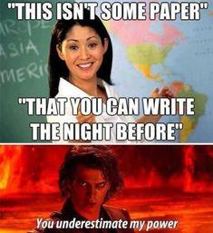 Underestimating others essays