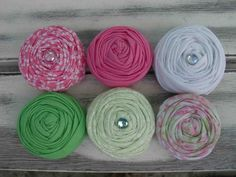 Tinkerbell fabric rosettes by sugarsugarhigh on Etsy, $9.00
