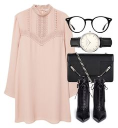 Untitled #6303 by laurenmboot on Polyvore featuring polyvore, fashion, style, MANGO, Sergio Rossi, Yves Saint Laurent, ROSEFIELD, Ray-Ban and clothing