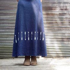one way or another Arrows Skirt, Tribal Skirt, Maxi Skirt, Boho Skirt