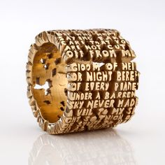 "Anne Fischer, USA, 2007 Hell-VII Ring, in 18k gold. From the ""Cantos"" series."