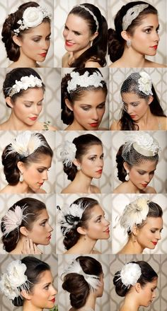 54 Ideas Wedding Hairstyles Romantic Veil Hair Pieces For 2019 Veil Hairstyles, Vintage Hairstyles, Wedding Hairstyles, Gatsby Hairstyles, Fancy Hairstyles, Vintage Veils, Vintage Wedding Hair, Vintage Birdcage, Bridal Headpieces