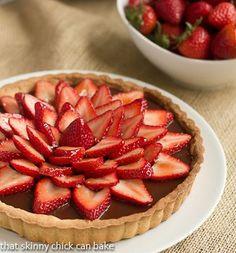 Strawberry Topped Chocolate Tart