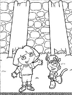 14 Best Dora Coloring Pages images in 2016 | Coloring pages ...