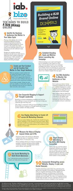 10 Tips For Building A Strong B2B Brand Online #infographic
