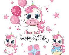 Cute Unicorn, Unicorn Party, Unicorn Birthday, Cute Raccoon, Cute Fox, Cat Clipart, Dora, Greeting Card Shops, Birthday Clipart