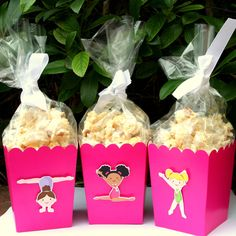 Gymnastics Party Assorted Snack Boxes- Set of 12. $12.00, via Etsy.