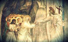 Proclaiming Christ's triumphant harrowing of hell!