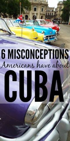 As many of you know, I spent a month living and studying Havana, Cuba this summer. Of course, this doesn't make me an expert on Cuba or Cubans, but I have noticed several misconceptions that many...