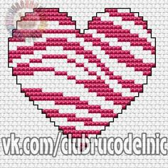VK is the largest European social network with more than 100 million active users. Cross Stitch, Photo Wall, Wall Photos, Stitching, Hearts, Community, Character, Gift, Punto De Cruz