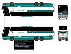 Lorry Papercraft | Sejam Bem Vindos ao meu Blog!!!: BUSSCAR JUM BUSS VIAÇÃO JACAREÍ ... Onibus Marcopolo, Car Photos Hd, Mini Bus, Bus Coach, Oragami, Busses, Paper Folding, Car Wrap, Slot Cars