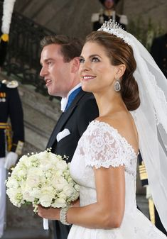 Princess Madeleine of Sweden and Christopher O'Neill depart from their wedding ceremony at The Royal Palace on 8 June 2013 in Stockholm, Sweden