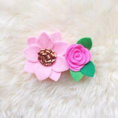 Fieltro flor Nylon venda del bebé / / flamenco y rosa