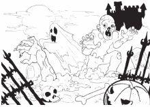 Zombies Und Gespenster Ensteigen Ihren Grabern Gespenst Halloween Kurbis Zombie