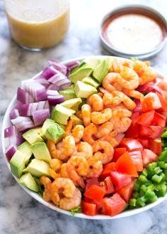 Avocado Shrimp Salad from littlespicejar.com