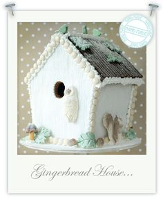 Torie Jayne made this Winter Woodland Christmas cake and Winter Woodland gingerbread bird house for Christmas Yu. Christmas Gingerbread House, Woodland Christmas, Christmas Treats, All Things Christmas, Christmas Holidays, Christmas Decorations, Gingerbread Houses, House Decorations, Country Christmas
