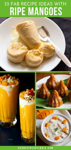 Am I the only one who wishes mango season was all year? If you are a mango lover like me then you will love this collection of recipes for ripe mangoes! Whether you are looking for a healthy breakfast Mango Recipes Indian, Easy Mango Recipes, Veg Recipes Of India, Mango Dessert Recipes, Indian Food Recipes, Healthy Recipes, Ethnic Recipes, Lassi Recipes, Chutney Recipes