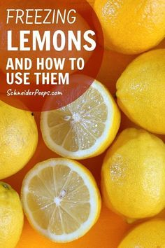 Freezing lemons is the easiet way to preserve lemons for the year. Learn how to freeze lemons whole, slices, juice, and zest and how to use frozen lemons. Freezing Lemons, Freezing Fruit, Freezing Vegetables, Hot Lemon Water, Drinking Lemon Water, Freezer Cooking, Cooking Tips, Freezer Recipes, Lemon Water Health Benefits