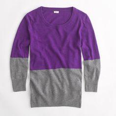 Jcrew Factory colorblock crewneck sweater $29.99