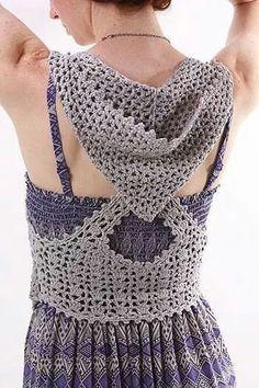 Crochet summer top with hood - idea