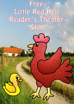 Free Little Red Hen Play Script This post has a free Little Red Hen Play Script. Ian Nicholls of Masketeers and Request Clip Art online has such nice animal art, and he recently made a chick that is so cute for this time of the year.  I was inspired to write a free play for