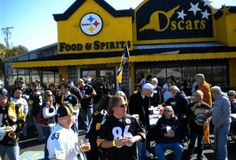 Visitors and transplants from the Steel City swear there's a time portal at Oscar's front door that magically transports them back to Pittsburgh. Oscar's, which is owned and operated by native Pittsburghers, is a sports bar, restaurant and locals hangout all rolled into one, but on fall Sundays it becomes the home of wayward Steelers fans.
