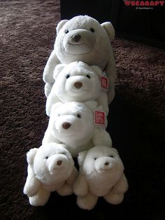 the white Snuffles front view. Gund Snuffles. By Noch Noch the Bearalist at Bearapy.  http://bearapy.me