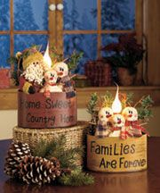 Lighted Holiday Baskets