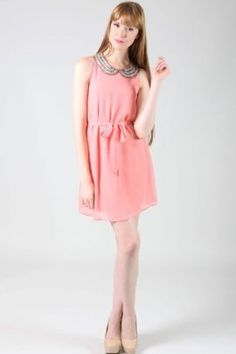 """Should we order? """"In Sequnce Dress in Pink"""" $36.99 - Vote via the """"review"""" button on Frock Stock!"""